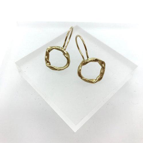 Knot drop - medium earrings - rose gold or silver
