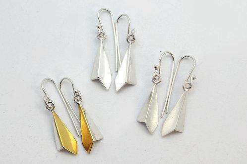 Folded Diamond Earrings by KMD
