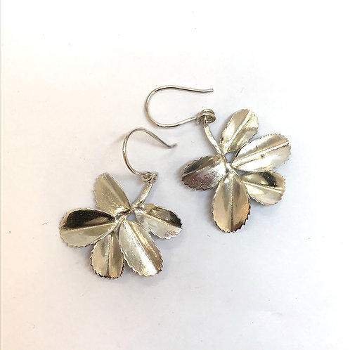 Rosehip Leaf Earrings by Carmen Burgi