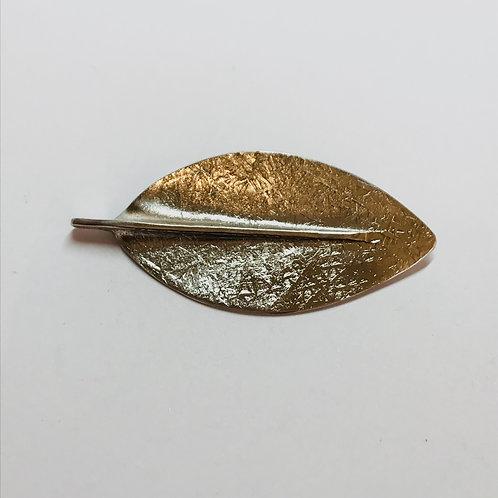 Northern Rata Leaf Silver Brooch by Bob Wyber