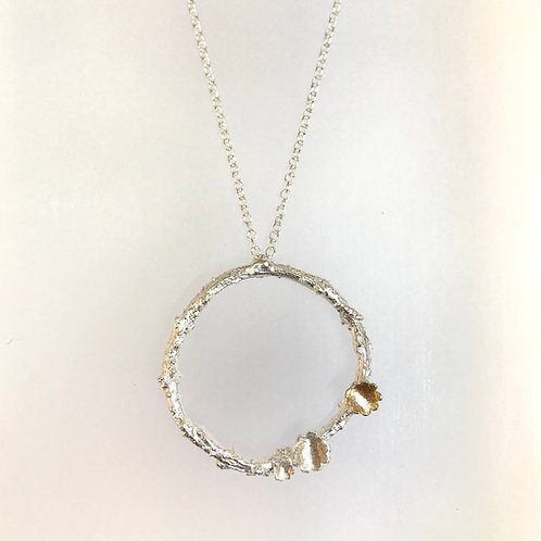Briar Wreath Silver & 9 Carat Gold Necklace by Natalie Salisbury