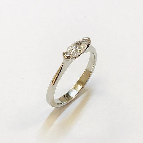Marquise Diamond Platinum Ring