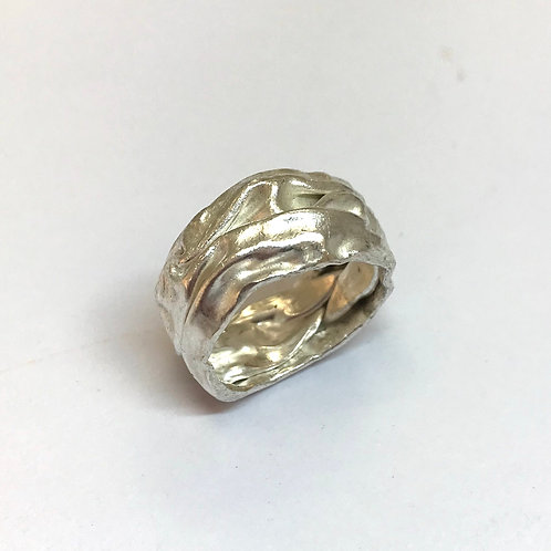 Crush Band Silver Ring by Phillipa Gee