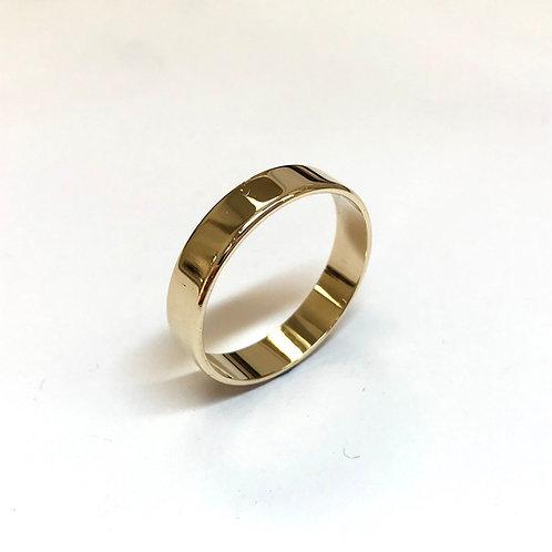 9 Carat Yellow Gold Flat Wedding Ring