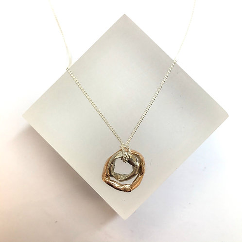 Get Knotted Silver Rose Gold Necklace