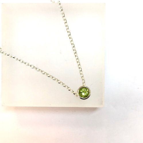 Floating Peridot Necklace by Zoe Porter