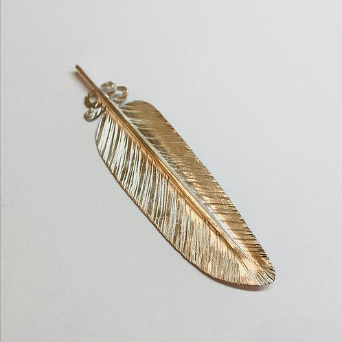 Silver Kereru Feather Brooch by Bob Wyber