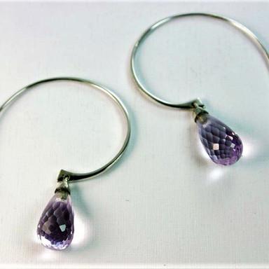 Briolette hoop earrings by Vu Jewellers