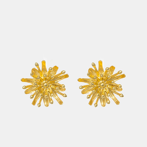Mount Cook Lily Gold Plated Stud Earrings by Kiri Schumacher