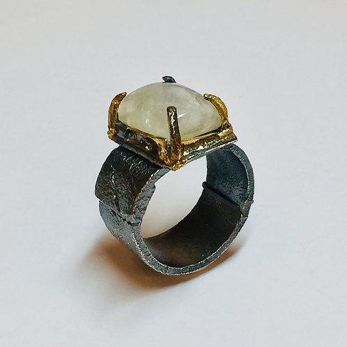 Chunky Moonstone Ring by Natalie Salisbury