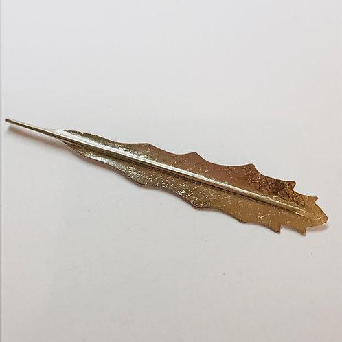 Lancewood Leaf Silver Brooch by Bob Wyber