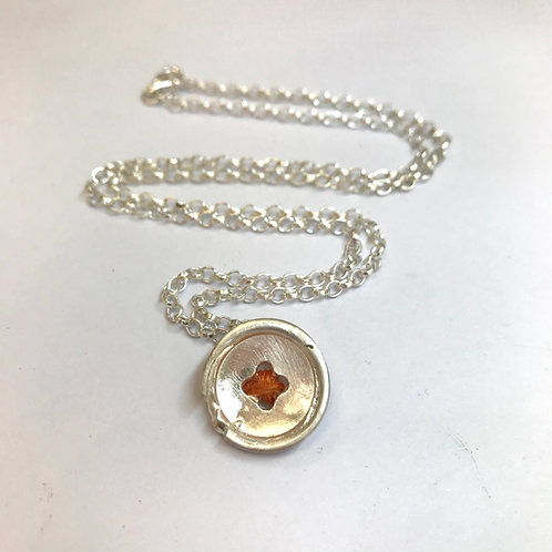 Silver Button Necklace by Zoe Porter
