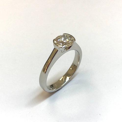 Crescent Diamond Ring