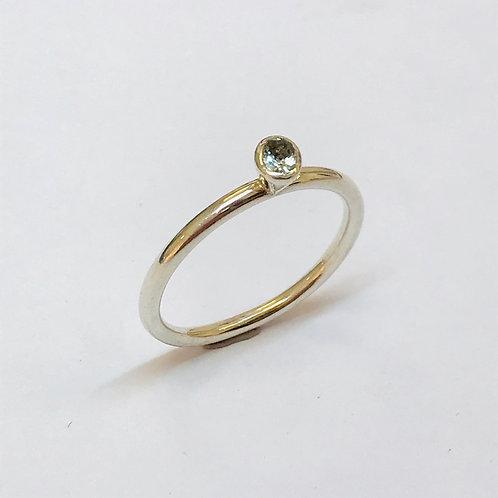 Mini aquamarine Stacker Ring