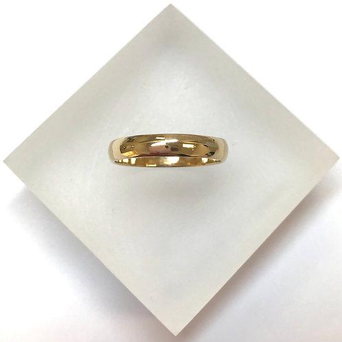 18 Carat Gold Court Band Wedding Ring 4mm