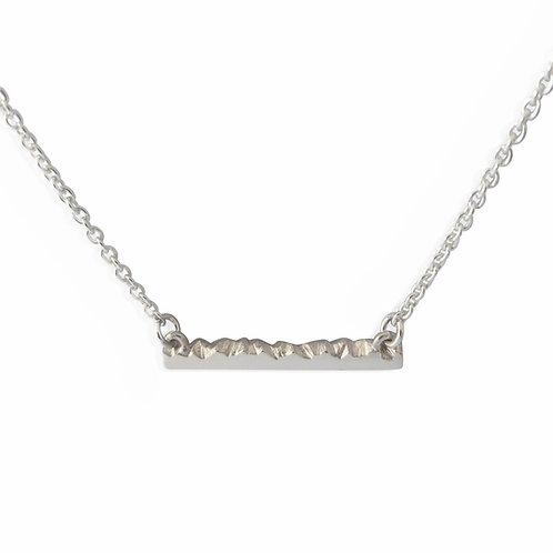 Horizon Ridge Bar Necklace by Nicola Whelan