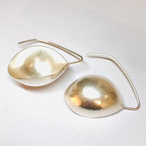 Silver Pod Earrings Small by Kay Turner