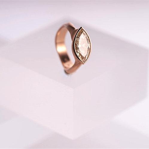 Rolling Wave Diamond Ring