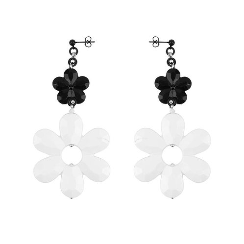Black and White Duo Earrings by Melissa Curry