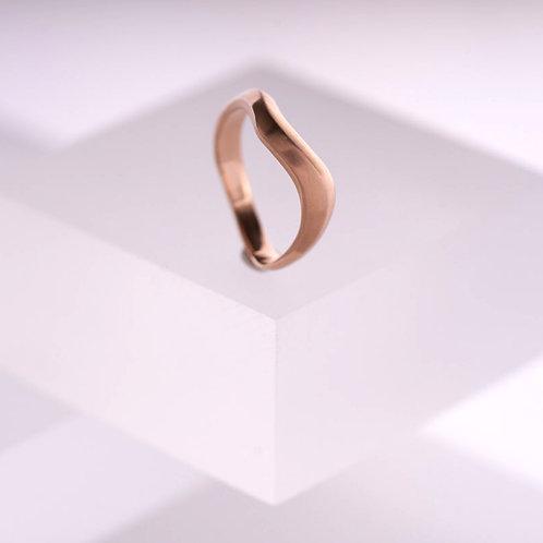 Tidal Rose Gold Ring