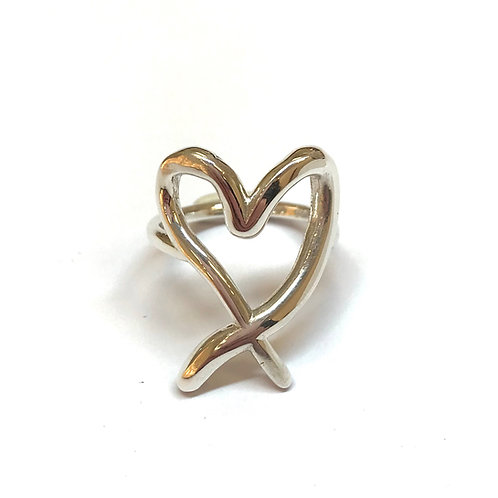 Heart - Silver Ring