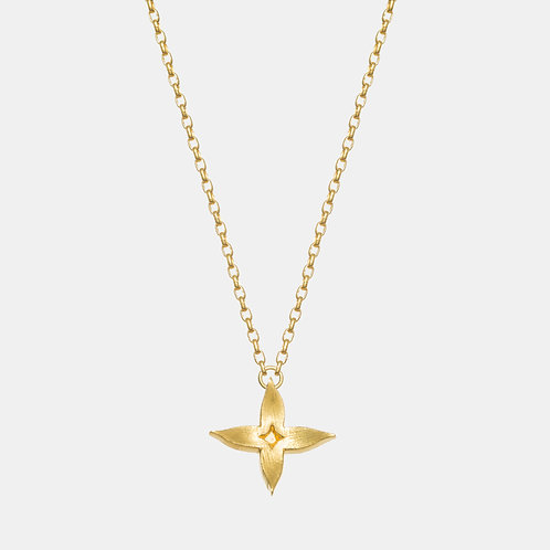 Jasmine Gold Plated Necklace by Kiri Schumacher