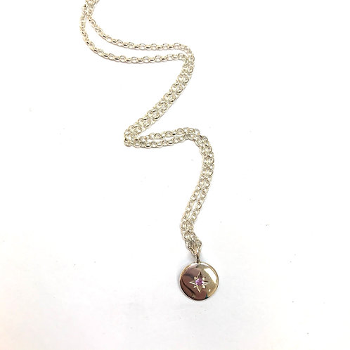 Starry Night - Pink Sapphire necklace