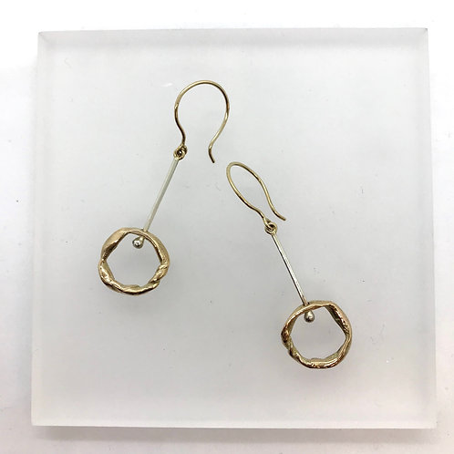 Knotted drops - earrings