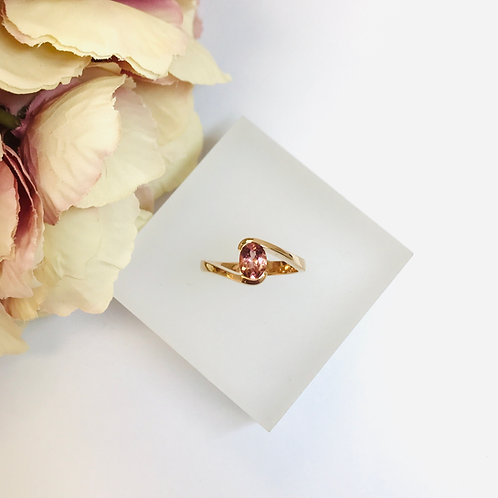 Peach Tourmaline Rose Gold Ring