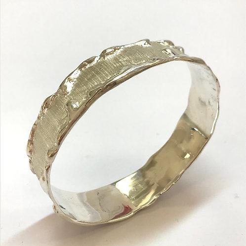 Aurora Silver Bangle