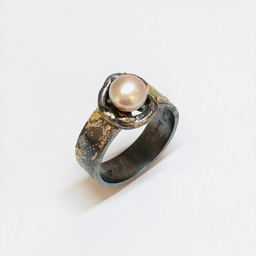 Pearl Solitaire Ring by Natalie Salisbury