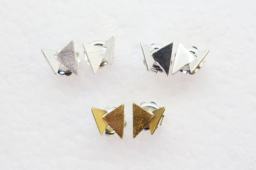 Butterfly Triangle Stud Earrings by Koji Miyazaki