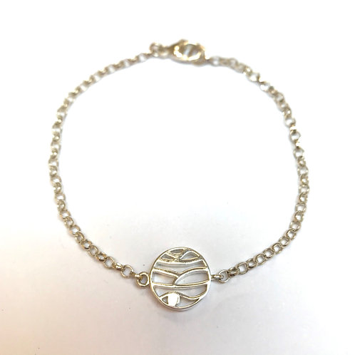 Mountain - silver bracelet