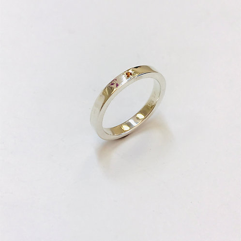 Garnet Silver Ring by Zoe Porter