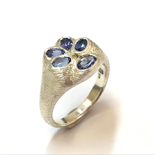 Tanzanite Pansy Ring by Adele Stewart