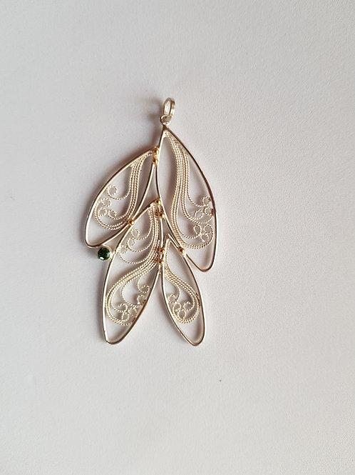 Spring Pendant Necklace by Lara Laverdure