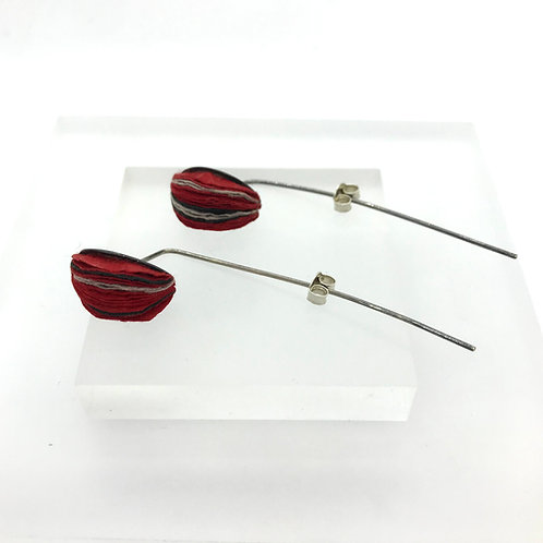 Lond Round Earrings