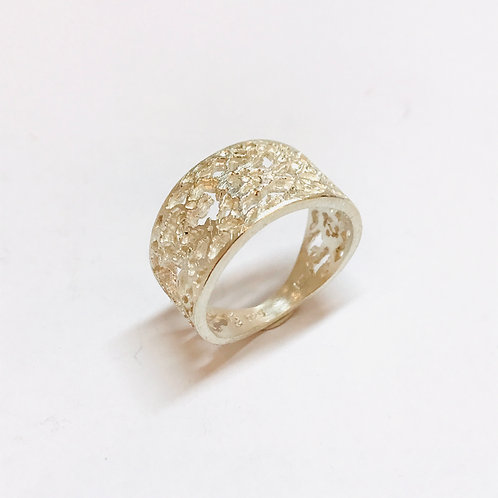 Lace Detail Ring Silver by Natalie Salisbury