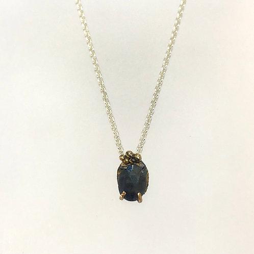 Grey Blue Sapphire Pendant by Natalie Salisbury