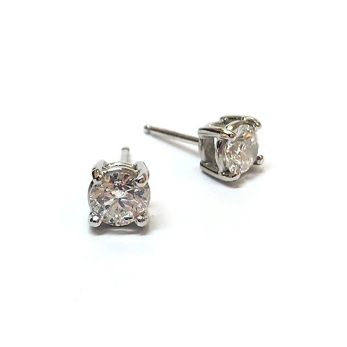 Brilliant Cut Diamond 18ct White Gold Earrings