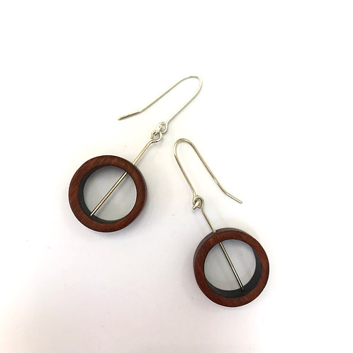 Drop earrings - recycled wood
