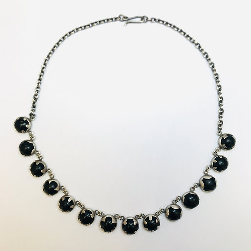 Illumination Necklace Onyx Silver by Kate Alterio