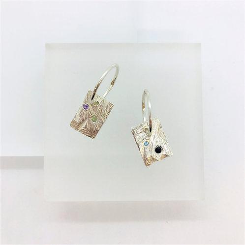 Rectangle Disco - earrings
