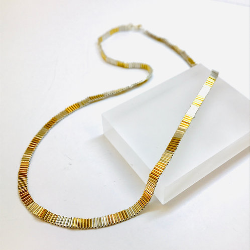 Ribbon Necklace Gold Plated Silver by Joanna Campbell