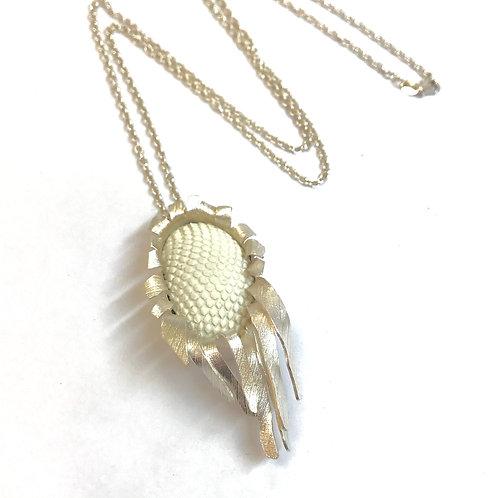 Sunflower Pendant by Kay Turner