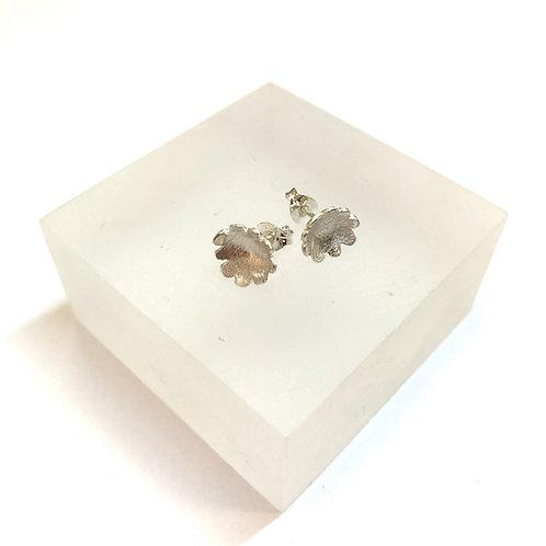 Briar Flower Large Silver Stud Earrings by Natalie Salisbury