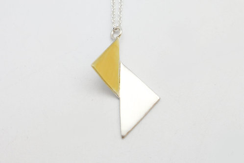 Folded Double Triangle Pendant by KMD