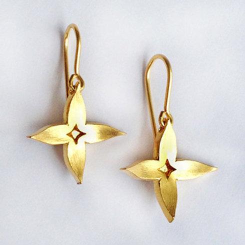 Gold Jasmine Earrings by Kiri Schumacher