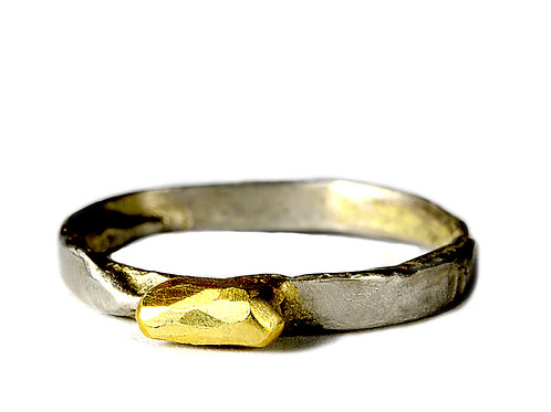 24 Carat Gold Platinum Ring by Neil Adcock