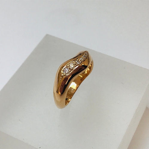 Diamond 18ct Rose Gold Tidal Ring